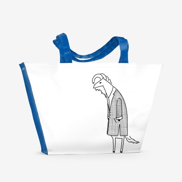 Пляжная сумка «Лошадь в пальто. Кто? Кто?»