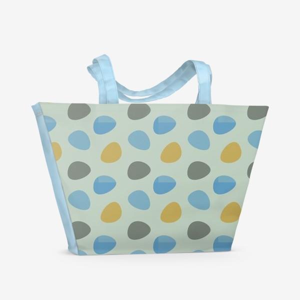 Пляжная сумка «Бесшовный паттерн с разноцветными пятнами»
