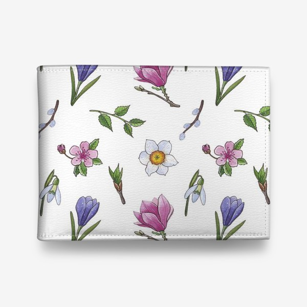 Кошелек «Весенние цветы паттерн»