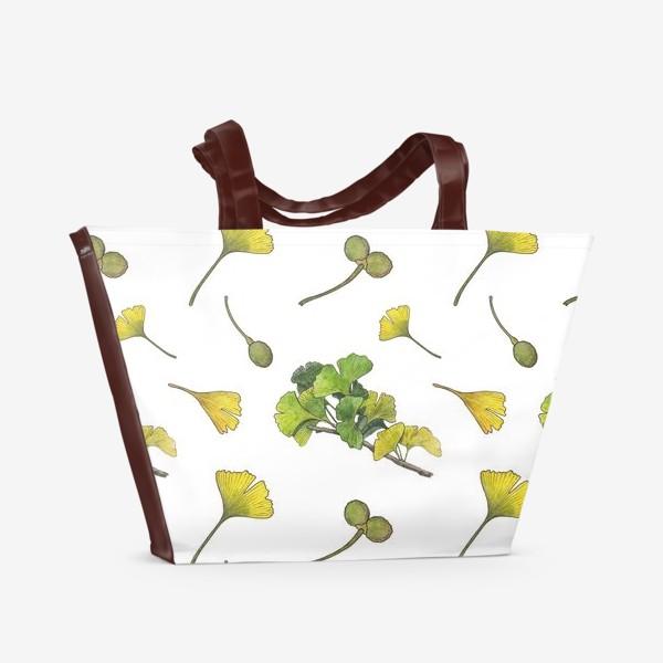 Пляжная сумка «Гинкго паттерн»