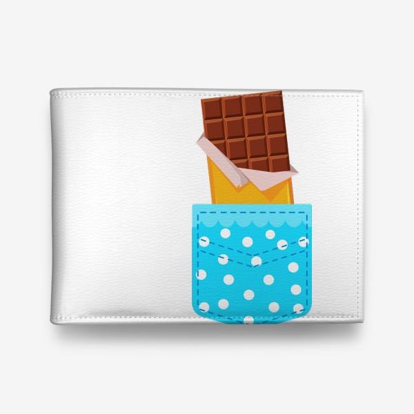 Кошелек «Карман в горошек с шоколадкой»