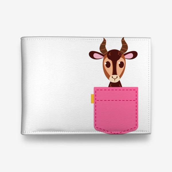 Кошелек «Кармашек розовый с газелью»