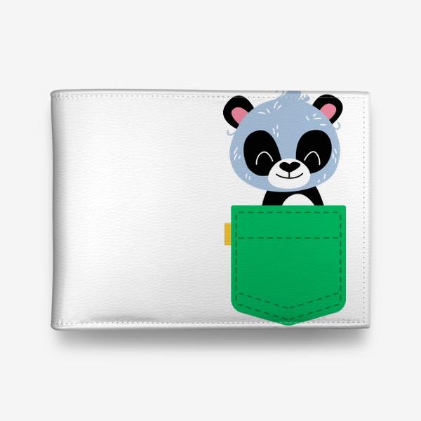 Кошелек «Карман зеленый с милой пандой»