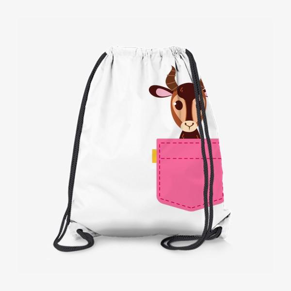 Рюкзак «Кармашек розовый с газелью»