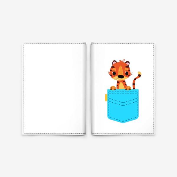 Обложка для паспорта «Нрлубой карман с тигром»