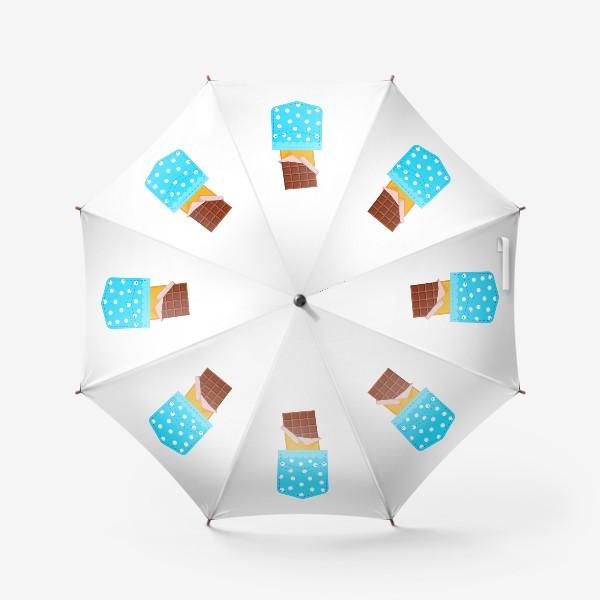 Зонт «Карман в горошек с шоколадкой»