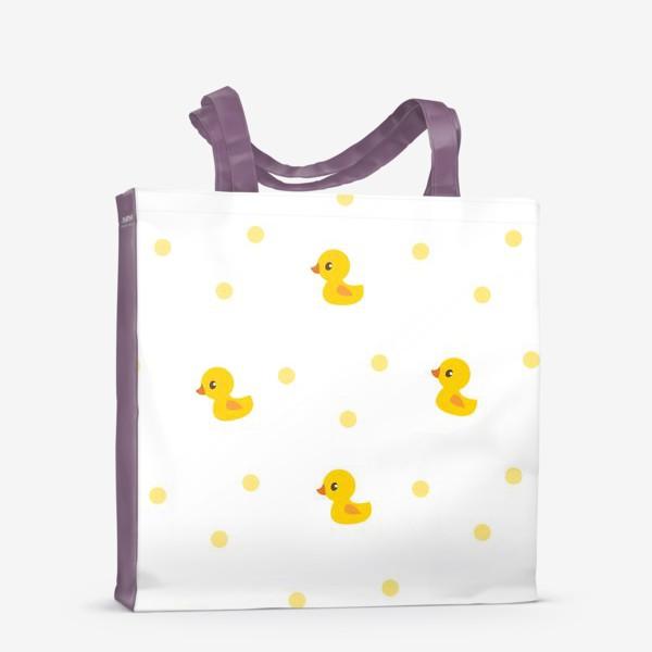 Сумка-шоппер «Милые утятя. Паттерн для малышей»