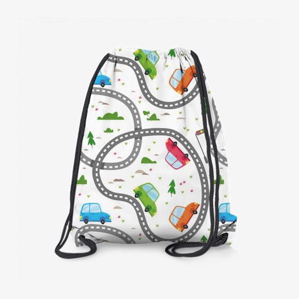 Рюкзак «Машины едут в путешествие»