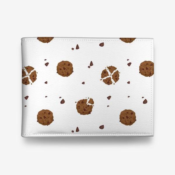 Кошелек «Кухонный бесшовный паттерн с шоколадным печеньем»
