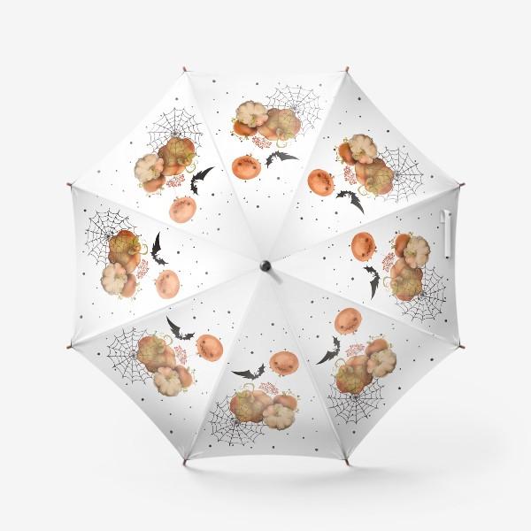 Зонт «Хэллоуин, тыква»