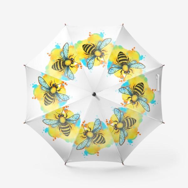 Зонт «пчела. акварельная пчелка»