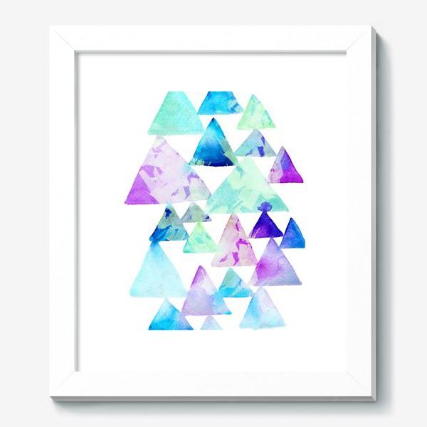 Картина «Акварельные треугольники»