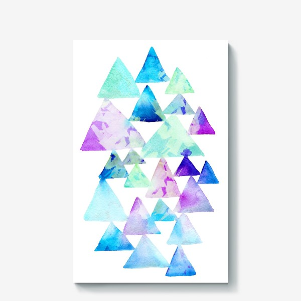 Холст «Акварельные треугольники»