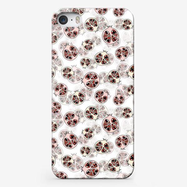 Чехол iPhone «Фрукты гранаты половинки»