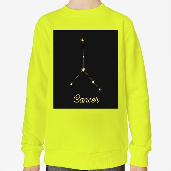 Свитшот «Созвездие Рак, золотые звезды на темном небе»