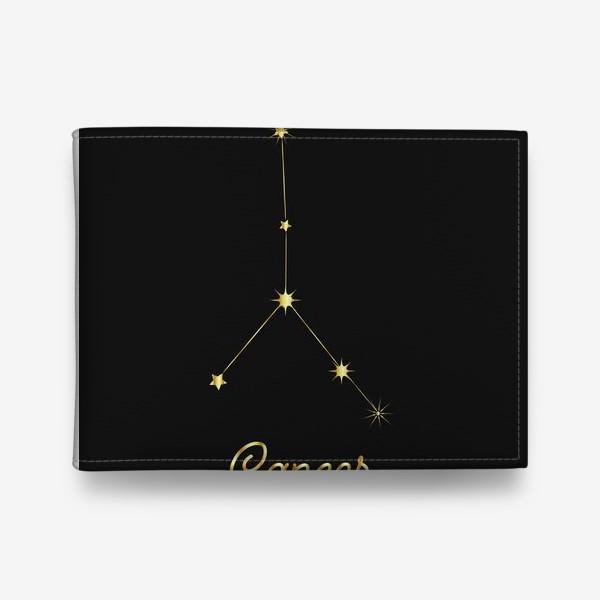Кошелек «Созвездие Рак, золотые звезды на темном небе»