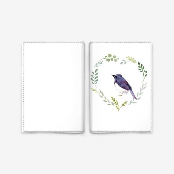 Обложка для паспорта «Птичка в сердце»