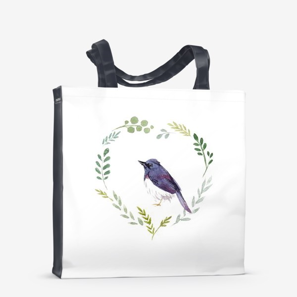Сумка-шоппер «Птичка в сердце»