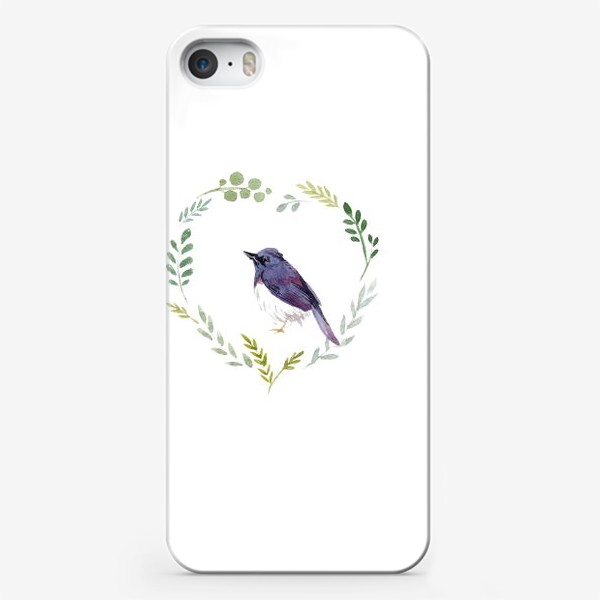 Чехол iPhone «Птичка в сердце»