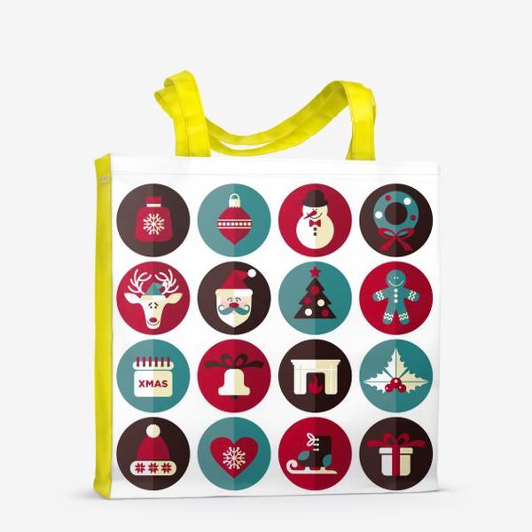 Сумка-шоппер «Новогодниe кружки!»