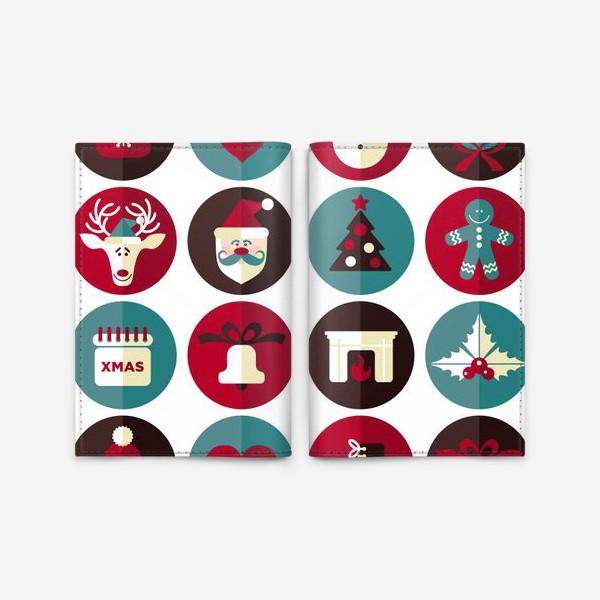 Обложка для паспорта «Новогодниe кружки!»