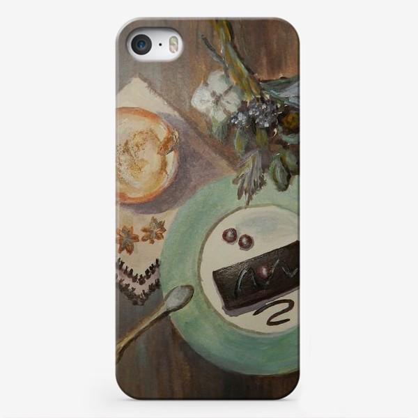 Чехол iPhone «Зимний натюрморт с капучино»