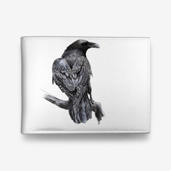 Кошелек «Черный ворон сидит на ветке»