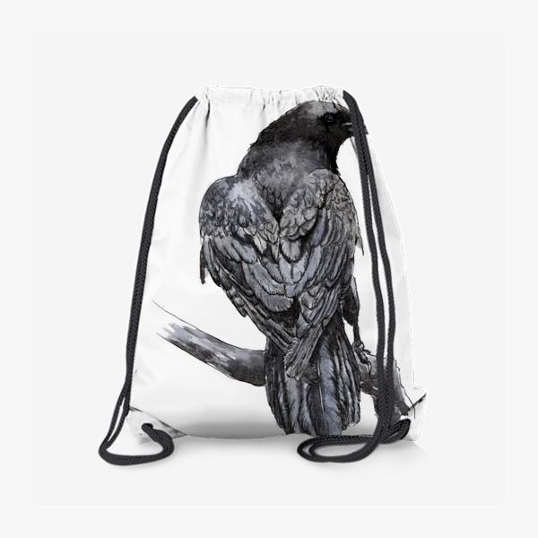 Рюкзак «Черный ворон сидит на ветке»