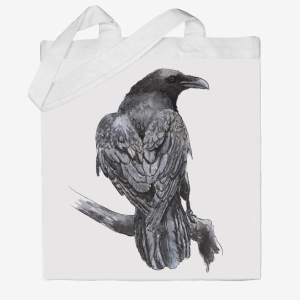 Сумка хб «Черный ворон сидит на ветке»