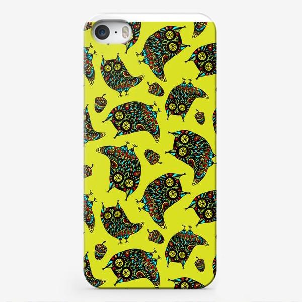 Чехол iPhone «Bright Psychodelic Owls»