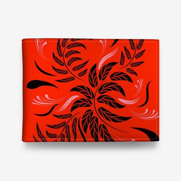 Кошелек «Folk flowers floral art print Flowers abstract art »