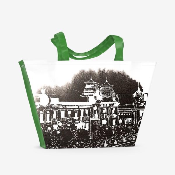 Пляжная сумка «Black Watercolor City Sketch»