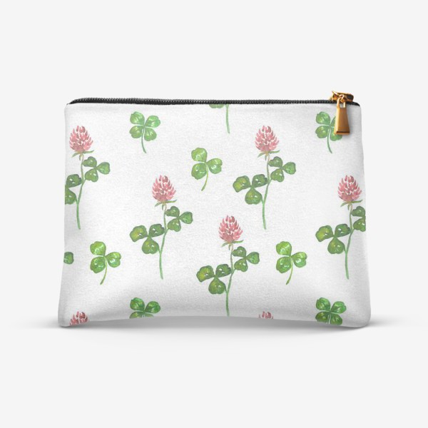 Косметичка «Pattern With Watercolor Clover»