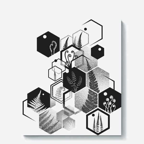 Холст «Hexagon Ferns»