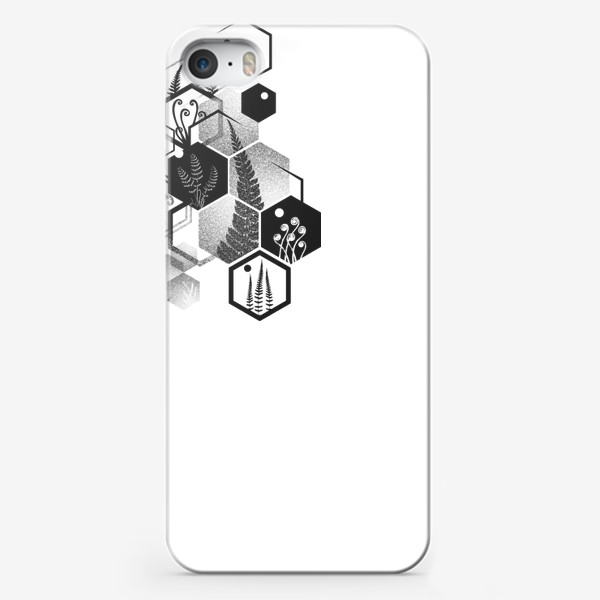 Чехол iPhone «Hexagon Ferns»