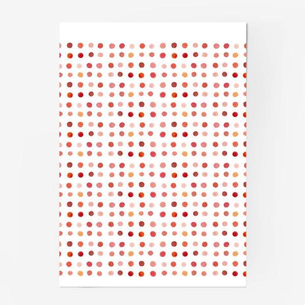Постер «Горошек розовый, паттерн»