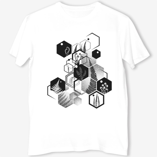 Футболка «Hexagon Ferns»
