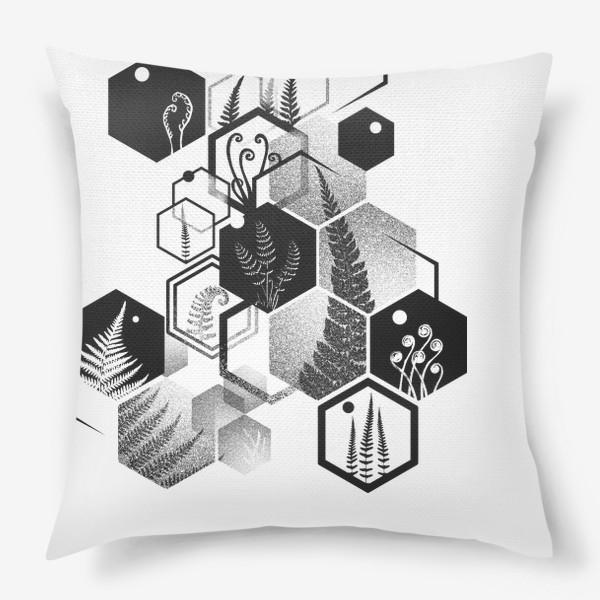 Подушка «Hexagon Ferns»