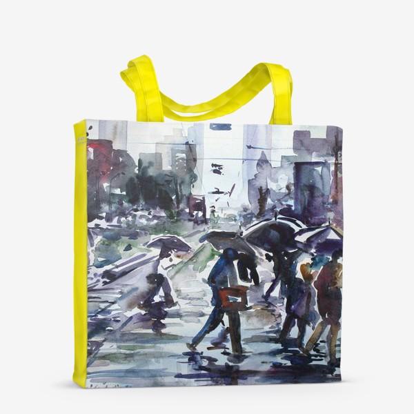 Сумка-шоппер «Дождливый город»