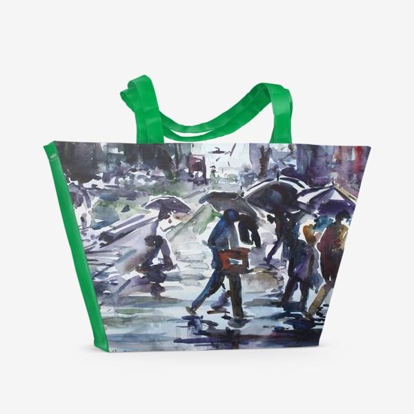 Пляжная сумка «Дождливый город»
