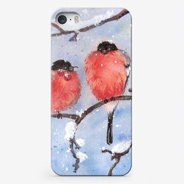 Чехол iPhone «Снегири»
