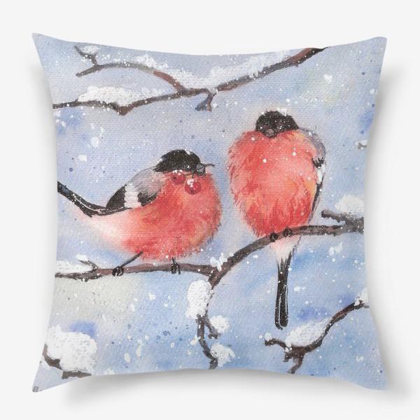 Подушка «Снегири»