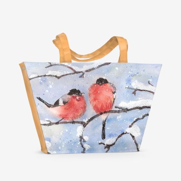 Пляжная сумка «Снегири»