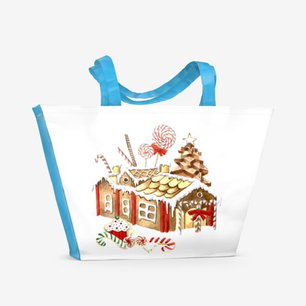 Пляжная сумка «Пряничный домик»