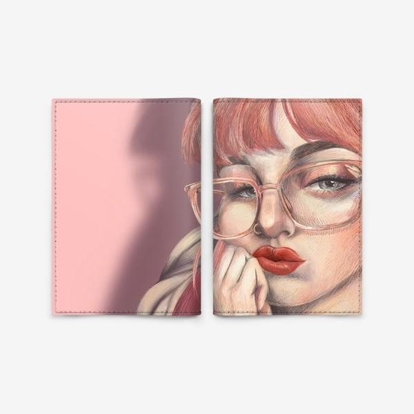 Обложка для паспорта «Девушка с мороженым»