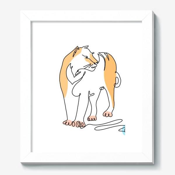 Картина «Тигр. Минимализм. One line art.»