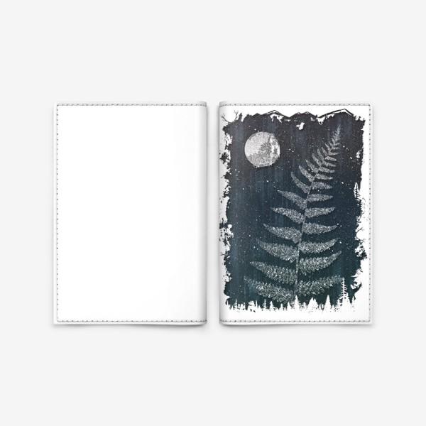 Обложка для паспорта «Fern Night»