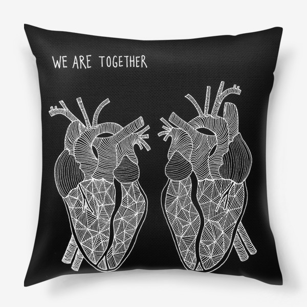 Подушка «Black Hearts»