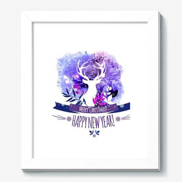 Картина «Рождественский дизайн с оленем»