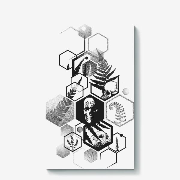 Холст «Hexagon Ferns Tattoo»